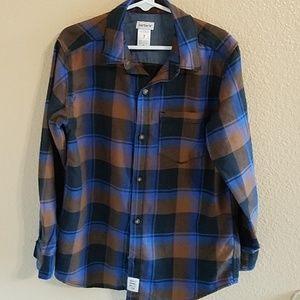 Carter's Boys Button Up Plaid Shirt Sz 7